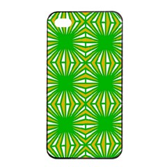 Retro Green Pattern Apple Iphone 4/4s Seamless Case (black)
