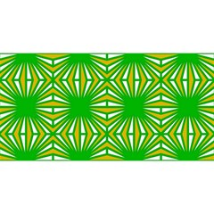 Retro Green Pattern YOU ARE INVITED 3D Greeting Card (8x4)
