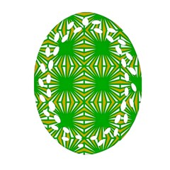 Retro Green Pattern Ornament (Oval Filigree)