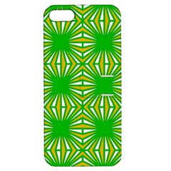 Retro Green Pattern Apple Iphone 5 Hardshell Case With Stand