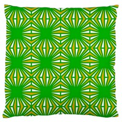 Retro Green Pattern Large Flano Cushion Cases (two Sides)