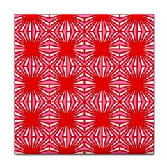 Retro Red Pattern Tile Coasters