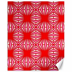 Retro Red Pattern Canvas 16  X 20