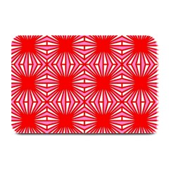 Retro Red Pattern Plate Mats