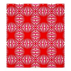 Retro Red Pattern Shower Curtain 66  x 72  (Large)