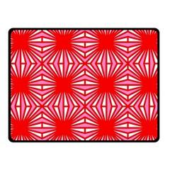 Retro Red Pattern Fleece Blanket (small)