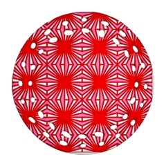 Retro Red Pattern Ornament (Round Filigree)