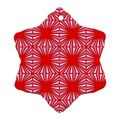 Retro Red Pattern Ornament (Snowflake)