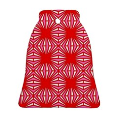 Retro Red Pattern Bell Ornament (2 Sides)