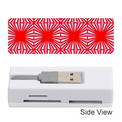 Retro Red Pattern Memory Card Reader (stick)