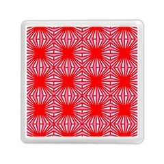 Retro Red Pattern Memory Card Reader (square)