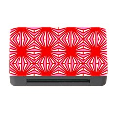 Retro Red Pattern Memory Card Reader with CF