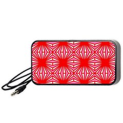 Retro Red Pattern Portable Speaker (Black)