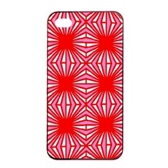 Retro Red Pattern Apple Iphone 4/4s Seamless Case (black)