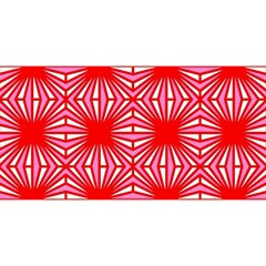 Retro Red Pattern You Are Invited 3d Greeting Card (8x4)