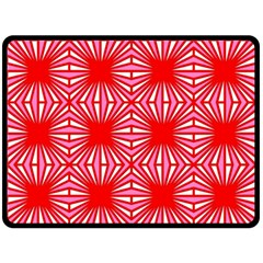 Retro Red Pattern Double Sided Fleece Blanket (Large)