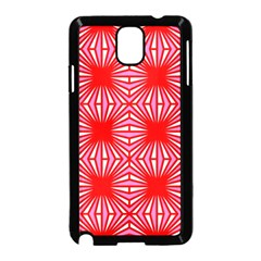 Retro Red Pattern Samsung Galaxy Note 3 Neo Hardshell Case (Black)