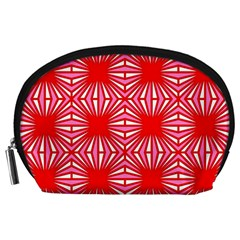 Retro Red Pattern Accessory Pouches (large)