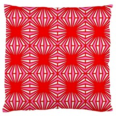 Retro Red Pattern Large Flano Cushion Cases (One Side)