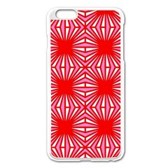 Retro Red Pattern Apple iPhone 6 Plus Enamel White Case