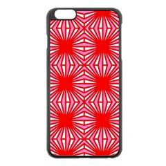 Retro Red Pattern Apple Iphone 6 Plus Black Enamel Case