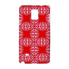 Retro Red Pattern Samsung Galaxy Note 4 Hardshell Case