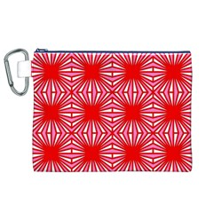 Retro Red Pattern Canvas Cosmetic Bag (XL)