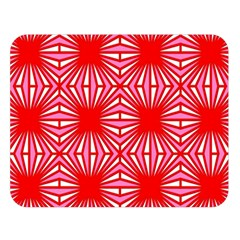 Retro Red Pattern Double Sided Flano Blanket (Large)