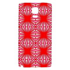 Retro Red Pattern Galaxy Note 4 Back Case