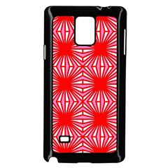 Retro Red Pattern Samsung Galaxy Note 4 Case (black)