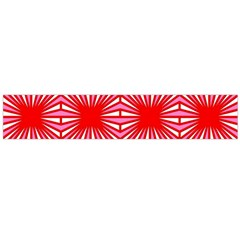 Retro Red Pattern Flano Scarf (Large)