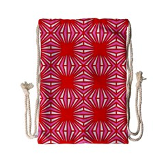 Retro Red Pattern Drawstring Bag (Small)