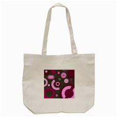 Grey Plum Abstract Pattern  Tote Bag (cream)