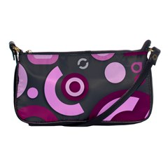 Grey Plum Abstract Pattern  Shoulder Clutch Bags