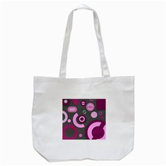 Grey Plum Abstract Pattern  Tote Bag (white)