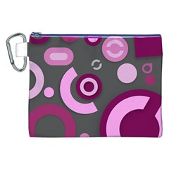 Grey Plum Abstract Pattern  Canvas Cosmetic Bag (XXL)