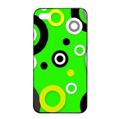 Florescent Green Yellow Abstract  Apple iPhone 4/4s Seamless Case (Black)