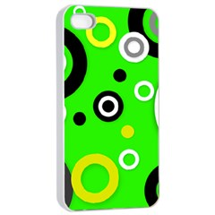 Florescent Green Yellow Abstract  Apple iPhone 4/4s Seamless Case (White)