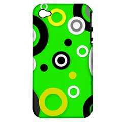 Florescent Green Yellow Abstract  Apple Iphone 4/4s Hardshell Case (pc+silicone)