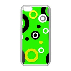 Florescent Green Yellow Abstract  Apple Iphone 5c Seamless Case (white)