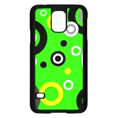 Florescent Green Yellow Abstract  Samsung Galaxy S5 Case (black)