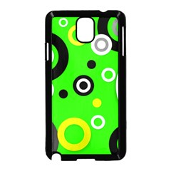 Florescent Green Yellow Abstract  Samsung Galaxy Note 3 Neo Hardshell Case (black)