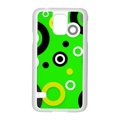 Florescent Green Yellow Abstract  Samsung Galaxy S5 Case (white)