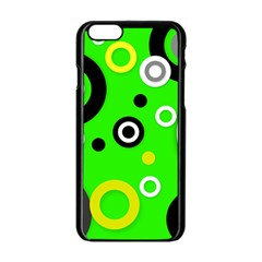 Florescent Green Yellow Abstract  Apple Iphone 6 Black Enamel Case