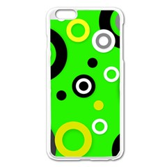Florescent Green Yellow Abstract  Apple Iphone 6 Plus Enamel White Case
