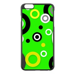 Florescent Green Yellow Abstract  Apple Iphone 6 Plus Black Enamel Case
