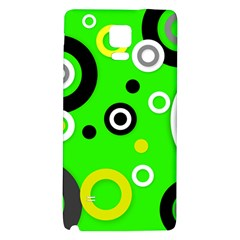 Florescent Green Yellow Abstract  Galaxy Note 4 Back Case