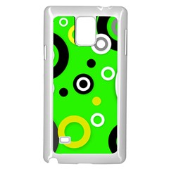 Florescent Green Yellow Abstract  Samsung Galaxy Note 4 Case (White)