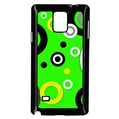 Florescent Green Yellow Abstract  Samsung Galaxy Note 4 Case (Black)