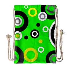 Florescent Green Yellow Abstract  Drawstring Bag (Large)